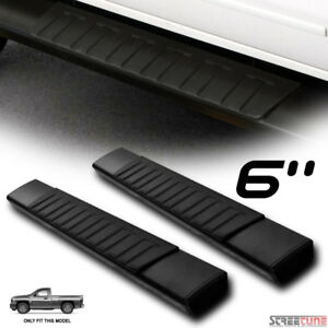 6 Oe Aluminum Black Side Step Running Boards 07 Silverado Sierra Standard Cab