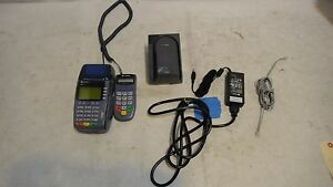 Verifone Omni 3750 Credit Card Machine W Pinpad Adapter