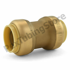 10 3 4 Sharkbite Style push fit Lead free Brass Couplings Fittings