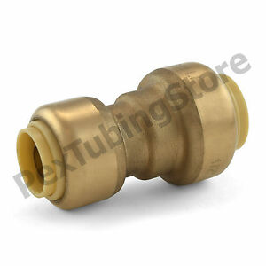 25 1 2 X 3 8 Sharkbite Style push fit Push To Connect Lf Brass Couplings