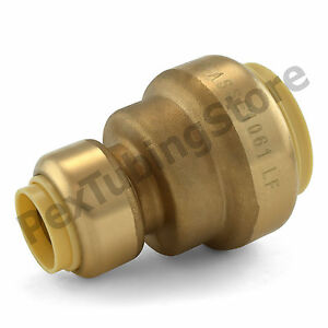 10 1 X 1 2 Sharkbite Style push fit Push To Connect Lf Brass Couplings
