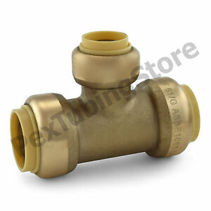 25 3 4 X 3 4 X 1 2 Sharkbite Style push fit Push To Connect Lf Brass Tees