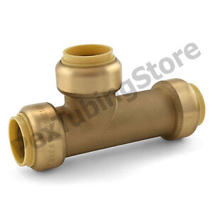 10 3 4 Sharkbite Style push fit Push To Connect Lead free Brass Slip Tees