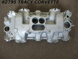 1961 1963 Chevy Used 3814678 Aluminum Intake Manifold 409 Cid Dated 2 16 62