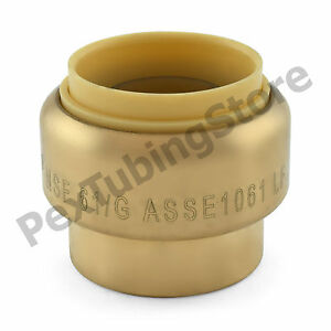10 1 Sharkbite Style push fit Push To Connect Lead free Brass Plugs caps