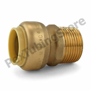 25 3 4 Sharkbite Style Push fit X 3 4 Mnpt Lf Brass Male Threaded Adapters