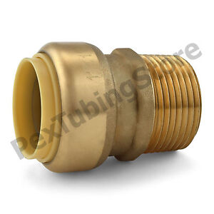 10 1 Sharkbite Style Push fit X 1 Mnpt Lr Brass Male Threaded Adapters