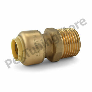 25 3 8 Sharkbite Style Push fit X 1 2 Mnpt Lf Brass Male Threaded Adapters