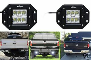 Pair 18w Led Bumper Reverse Lights Spot Flood Work Offroad New Free Shipping