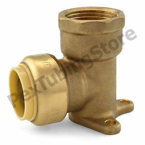 10 3 4 Sharkbite Style Push fit X 3 4 Fnpt Lf Brass Fnpt Drop Ear Elbows