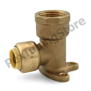3 8 Sharkbite Style Push fit X 1 2 Fnpt Lf Brass Fnpt Drop Ear Elbows 10