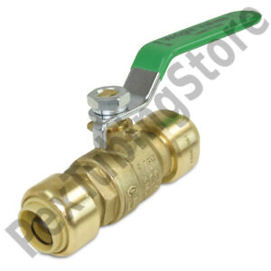 10 1 2 Sharkbite Style push fit Push To Connect Lead free Brass Ball Valves