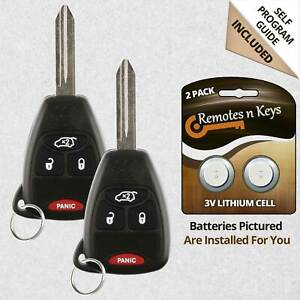 2 New Replacement Keyless Remote Car Key Fob For Jeep Grand Cherokee Liberty 300