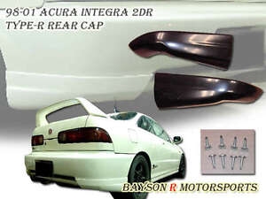 Jdm Tr Style Rear Lip Valences Aprons Abs Fits 98 01 Integra 2dr