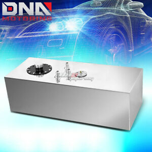 15 Gallon Top feed Performance Polished Aluminum Fuel Cell Tank cap level Sender