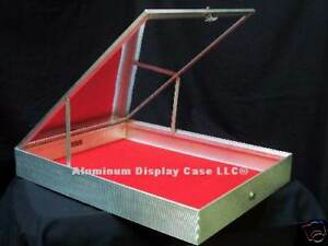 24x18x3 1 4 Aluminum End Opening Glass Top Display Case Al180