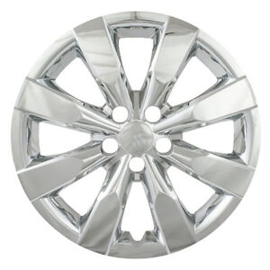 Set Of 4 16 Chrome Hubcap Hub Cap Rim Wheel Covers For 2014 2015 Toyota Corolla