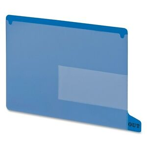 Smead End Tab Out Guides W pockets Vinyl Letter Blue 25 box Bx Smd61951