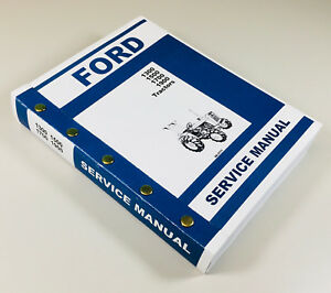 Ford 1300 1500 1700 1900 Tractor Service Repair Shop Manual Technical Overhaul