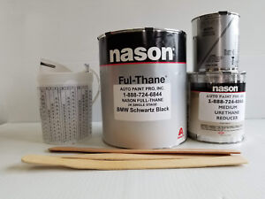Bmw Schwartz Black Dupont nason 2k Ful thane Single Stage Urethane Auto Paint