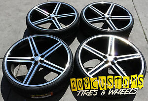 24 Black Iroc Wheels Tires 5x115 Charger Challenger Magnum Chrysler 300