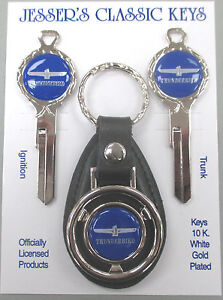Blue Thunderbird Deluxe Classic White Gold Keys Set T bird 1959 1960 1961 1962
