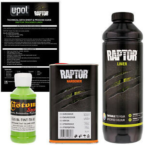 U Pol Raptor Tintable Lime Green Spray On Truck Bed Liner Coating 1 Liter