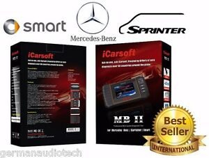 Mercedes Benz Obd2 Diagnostic Scanner Tool Erase Fault Codes Best Icarsoft Mbii