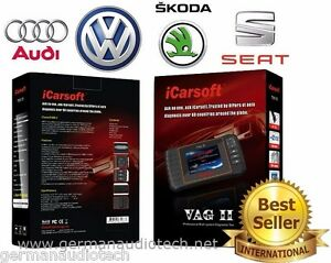 Seat Skoda Vw Obd2 Best Diagnostic Scanner Tool Erase Fault Codes Icarsoft Vagii