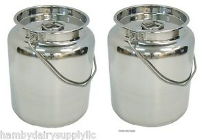Sale 2 X 2 5 Gallon Stainless Steel Milk Storage Transport Can 10 Quart