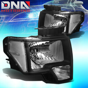For Ford F150 2009 2014 Euro Black Tint Crystal Headlights Clear Corner Lights