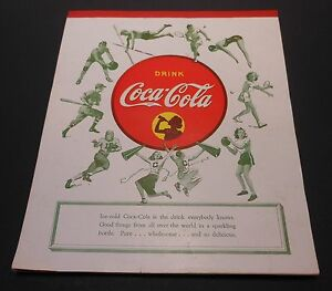 Vintage Coca Cola 1940-45 School Tablet