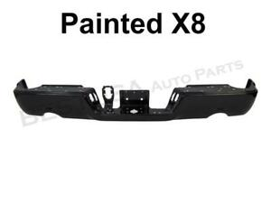 Painted Black Clear X8 Rear Bumper Bar For 09 17 Dodge Ram1500 W Dual W O Sensor