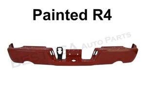 Painted Flame Red R4 Rear Bumper Bar For 09 17 Dodge Ram 1500 W Dual W O Sensor