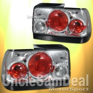 For 93 97 Toyota Corolla Clear Lens Chrome Altezza Tail Lights Direct Fit Pair