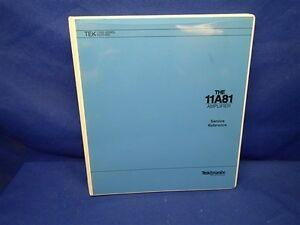 Tektronix 11a81 Amplifier Service Manual Old Cover