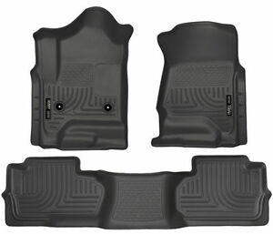 Husky Weatherbeater Floor Mats For Chevy Silverado Gmc Sierra Extended Cab 98241