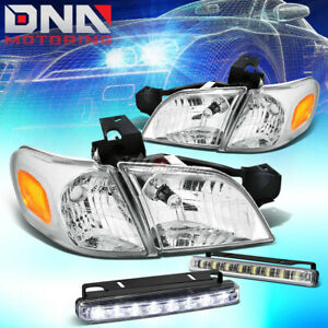 Chrome Headlight Amber Corner Led Driving Fog Light For 97 05 Venture Silhouette