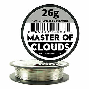 Ss 316l 100 Ft 26 Gauge Awg Stainless Steel Resistance Wire 0 40 Mm 26g 100