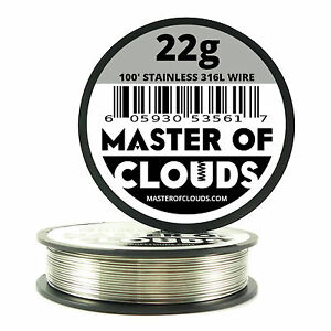 Ss 316l 100 Ft 22 Gauge Awg Stainless Steel Resistance Wire 0 64 Mm 22g 100