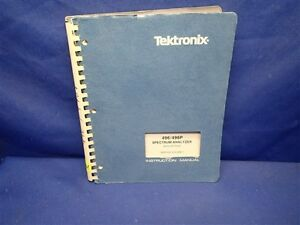 Tektronix 496 496p Spectrum Analyzer W options Service Volume 1
