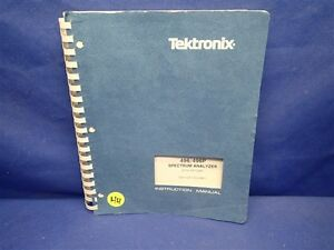 Tektronix 496 496p Spectrum Analyzer With Options Service Manual Volume 1