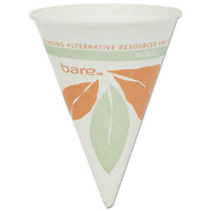 Bare Eco forward Paper Cone Water Cups 4oz White 200 pack 25 Packs carton