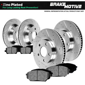 Front Rear Drill Slot Brake Rotors And Pads For 2005 2006 2010 Ford Mustang