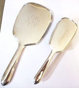 Art Deco Sterling Silver Brush Mirror Set Gorham Corp