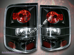 2004 2008 Ford F 150 F 150 Tail Lights Black Brake Lamps
