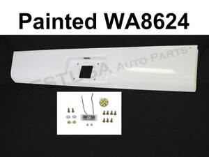 Painted White Rear Steel Roll Pan For 1999 2007 Silverado Classic Fleetside