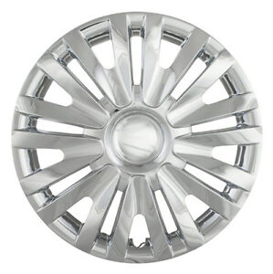 Four New 15 Silver Hubcap Hub Caps Wheel Rim Covers For 2010 14 Vw Golf
