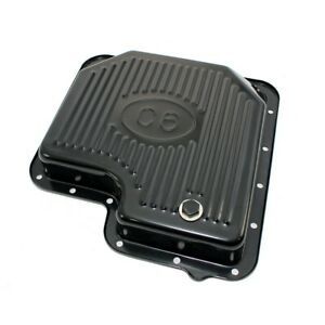 Ford C6 Automatic Transmission Pan Black Plated Steel Stock Capacity With Logo