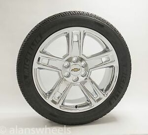 New Ck160 Chevy Suburban Tahoe Chrome 22 Wheels Rims Mich Tires Tpms
